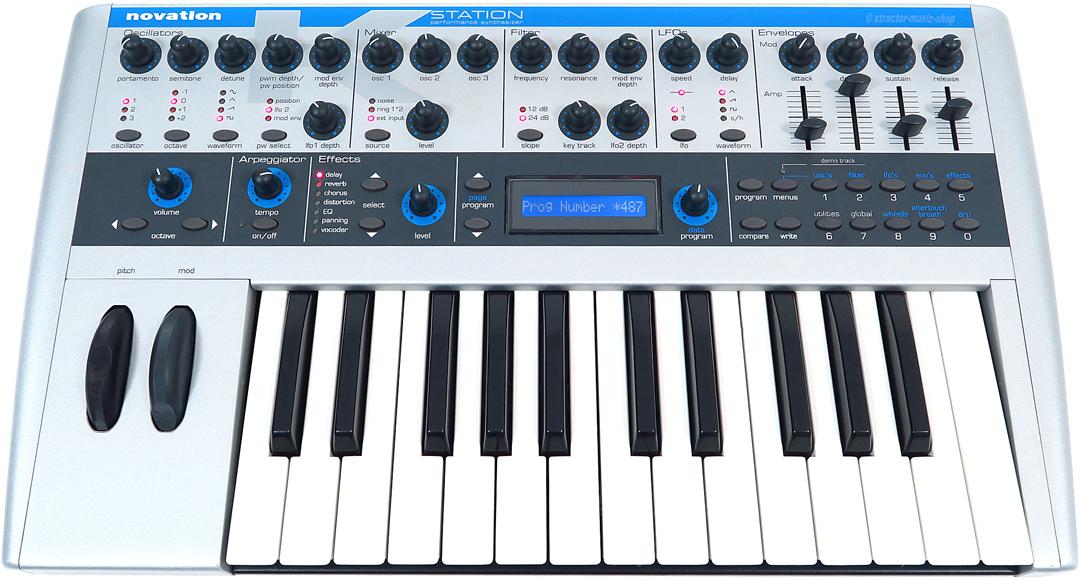 novation k station analog modelling synth k station keyboard rechng gew hr. Black Bedroom Furniture Sets. Home Design Ideas