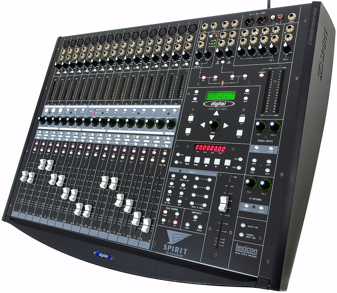 soundcraft spirit 328 mixer 32 kanal digitalmischpult. Black Bedroom Furniture Sets. Home Design Ideas