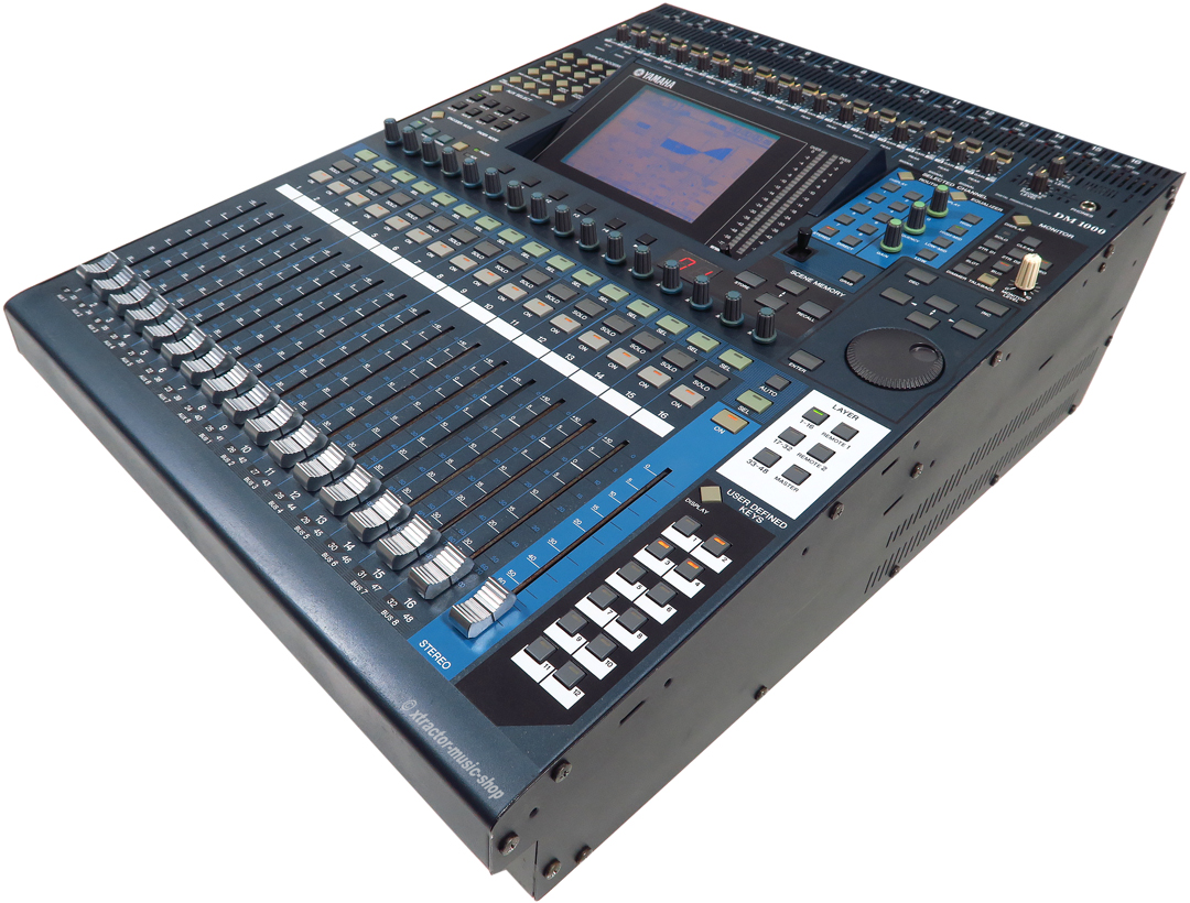 yamaha dm 1000 dm1000 version 2 48 channel digital mixer rechng warranty ebay. Black Bedroom Furniture Sets. Home Design Ideas